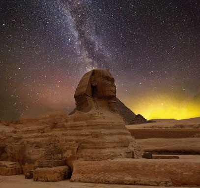 Die Sphinx im Gizeh-Plateau.