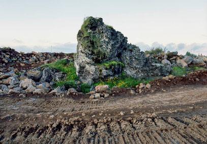 »Ófeigskirkja« (»Kirche des verborgenen Volkes«) in Gálgahraun