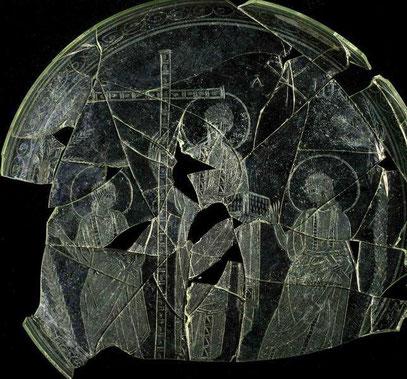 Die Glasplatte aus Andalusien mit der vermeintlich ältesten Jesus-Darstellung.