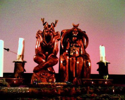 Ein Wicca-Altar