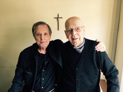 William Friedkin mit Pater Gabriele Amorth