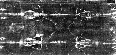 Ein Negativbild vom Turiner Grabtuch.