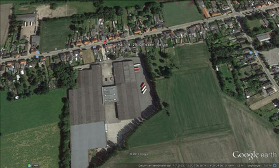 luchtfoto crossterrein  en pits