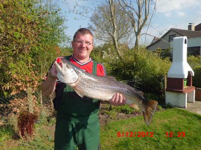 Lachs, Größe: Größe: 83 cm / Gewicht: 4,7 kg