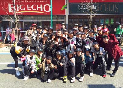 平塚市の老舗ダンススタジオ studio blackn 2015 ひらつなまつり