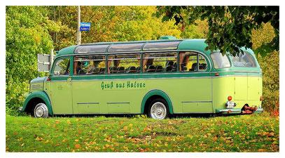 unser Reisebus bei der Anfahrt