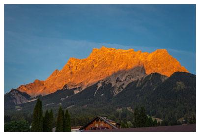 Wetterstein - Alpenglühn