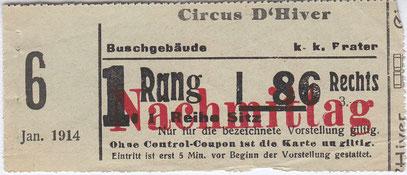 Circus D´Hiver im Buschgebäude 1914