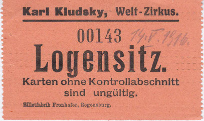 Circus Kludsky 1916