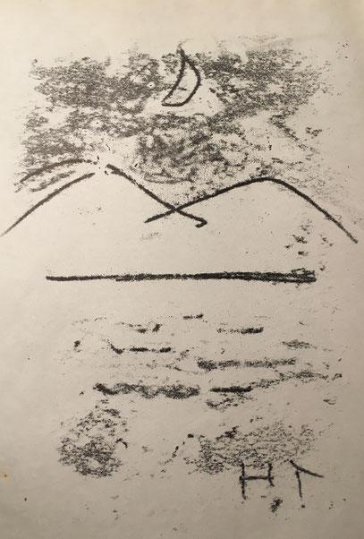 Silent Yamanakako 静かな湖畔 2003年(?) ©︎ Hanae Tanazawa