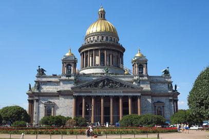 Die Isaakskathedrale von 1858 ist die größte Kirche Sankt Petersburgs.