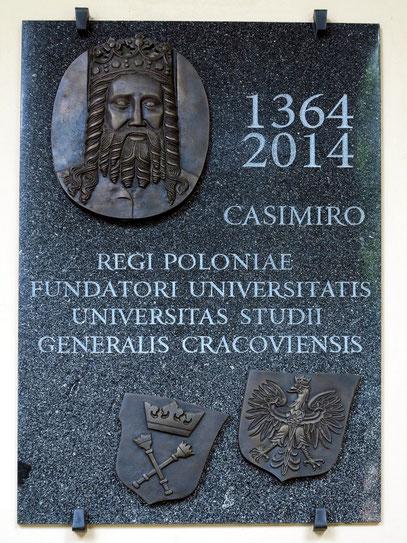Gedenktafel zur 650-Jahr-Feier der Universität