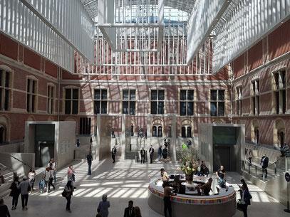 Rijksmuseum. Atrium mit Eingang
