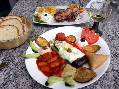 Mittagessen im griechischen Lokal Korfu in Kleinmachnow