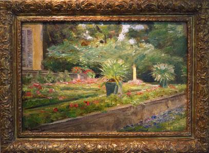 Ausgestellte Gemälde, die der Künstler in seiner Sommervilla malte.