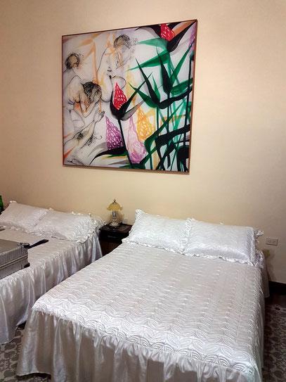 Camagüey, unser Schlafzimmer in der Casa Particular CasAlta
