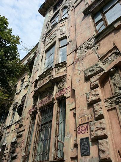 Alte Bürgerhäuser warten auf die Restaurierung.
