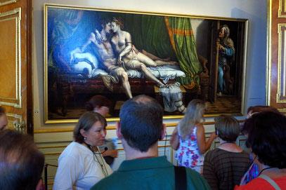 Giulio Romano - Die Liebenden. Öl auf Tafeln, 163 x 337 cm, 1525