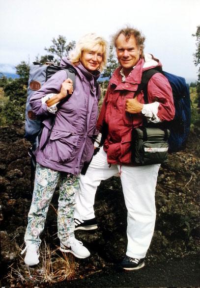 Almut und Frank Rother auf Weltreise, hier auf Hawaii, 1991