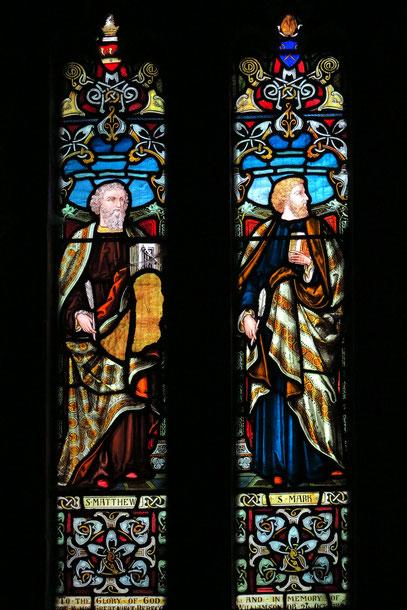 Clonfert. Kirchenfenster mit den vier Evangelisten