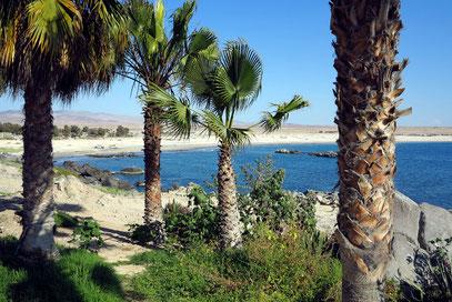 Blick von Caldera zur Bahía Inglés