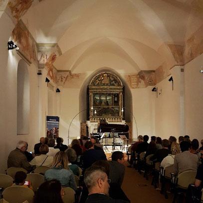 Ravello. Annunziata Historic Building mit Mozarts Klavierkonzert KV 488