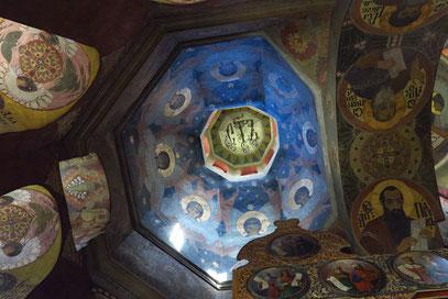 Allerheiligenkirche 1696 - 1698, Fresken in den Kuppeln