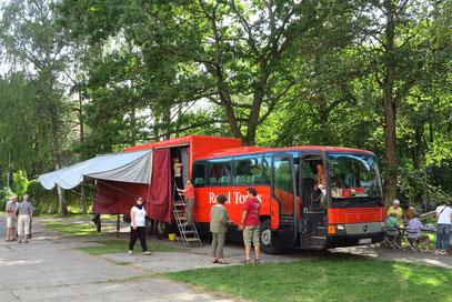 Das Rotel auf dem Campingplatz Jurmala bei Riga/Lettland