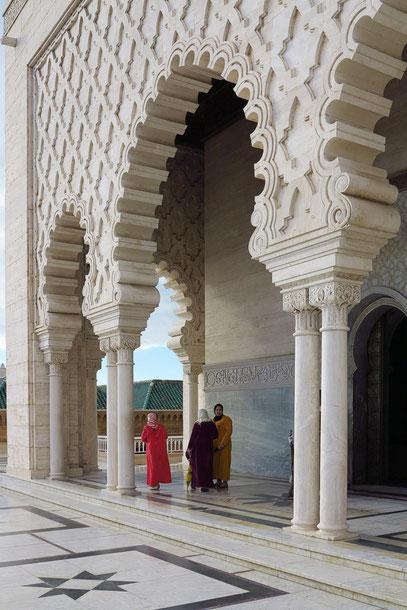 Fassade des Mausoleums von Mohammed V.