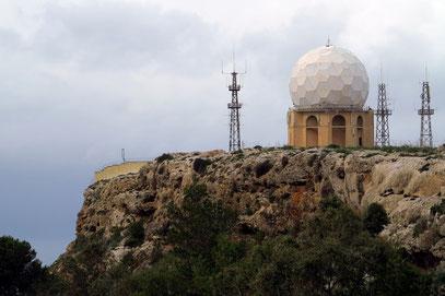 Radarstation auf dem Dingli Plateau