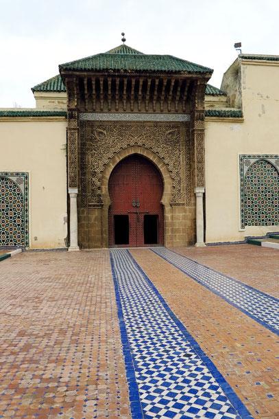 Meknès. Eingang zum Mausoleum von Moulay Ismail