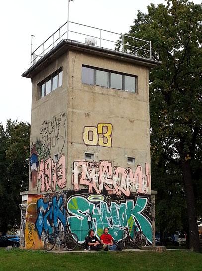 Geschichtsmeile Berliner Mauer an der Puschkinallee