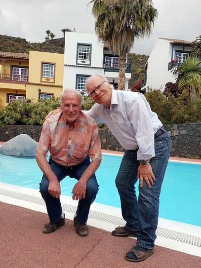 Zwei Geburtstagskinder auf La Palma: Klaus, 22.4.1943, und Frank, 22.4.1942