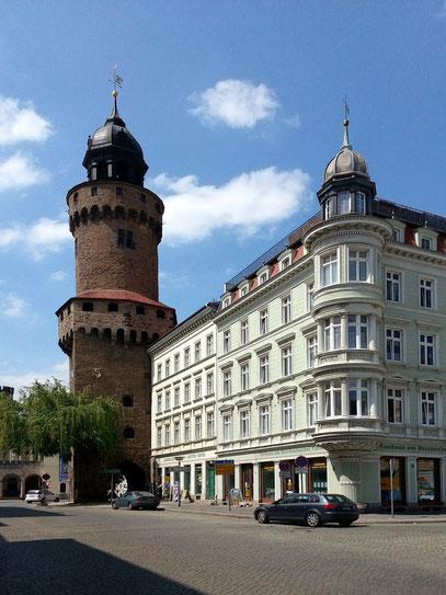 Reichenbacher Turm am Westende des Obermarktes