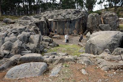 Sacsayhuamán. Rodadero, ein kuppelförmiger Trachytfelsen