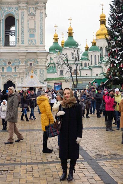 Auf dem Weihnachtsmarkt vor der Sophienkathedrale
