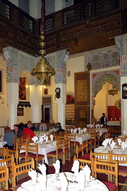 Unser Mittagessen in einem ehemaligen Palast