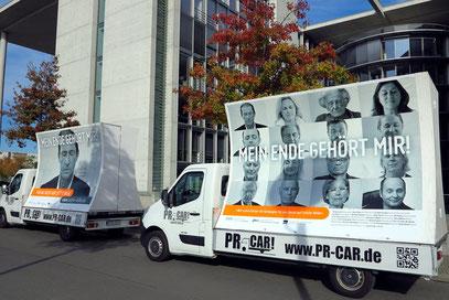 """Kampagne am Karl-Löbe-Haus. """"Mein Ende gehört mir"""" (letzte-hilfe.de)"""