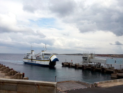 Fährhafen Cirkewwa, mit regelmäßigen Fahrten nach Gozo