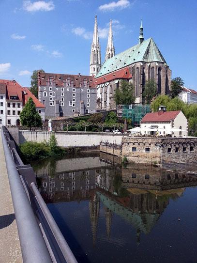 Sankt-Peter-und-Paul-Kirche, Altstadtbrücke über die Lausitzer Neiße
