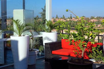 Dachgarten des Hotels The Pearl Marrakech