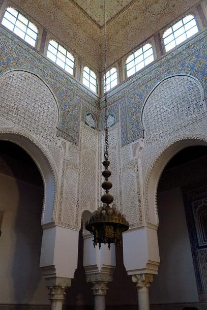 Obere Wandfläche und Decke des Lichthofes