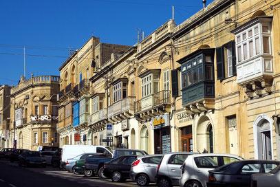 Victoria, der Hauptort von Gozo, mit der Trq Fortunato Mizzi