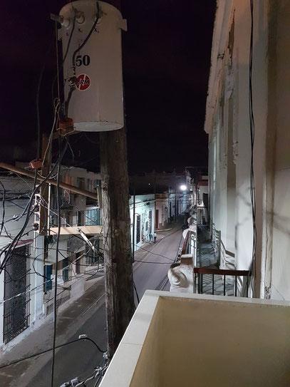 Camagüey, nächtlicher Blick aus unserer Casa Particular CasAlta