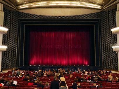 Teatr Wielki, Moniuszko-Saal, Blick vom 1. Amfiteatr zur Bühne