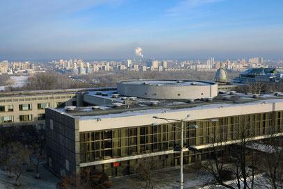 Blick aus dem Hotel Salute (Zimmer 504 im 5. Stock) nach ESE