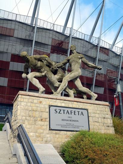 Stafettenlauf, Werk des polnischen Bildhauers Adam Roman