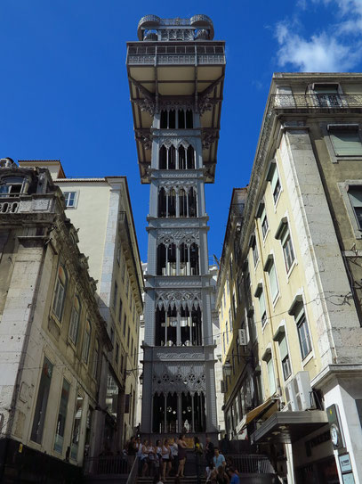 Elevador de Santa Justa, Stahlkonstruktion aus dem Jahr 1902