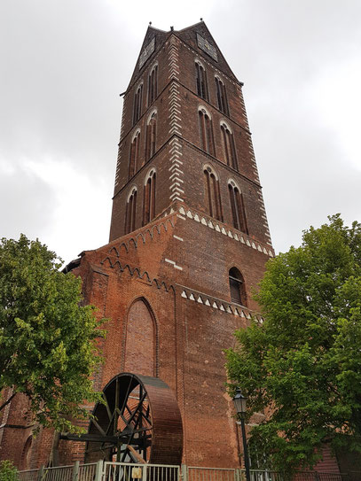 Verbliebener Turm der Marienkirche
