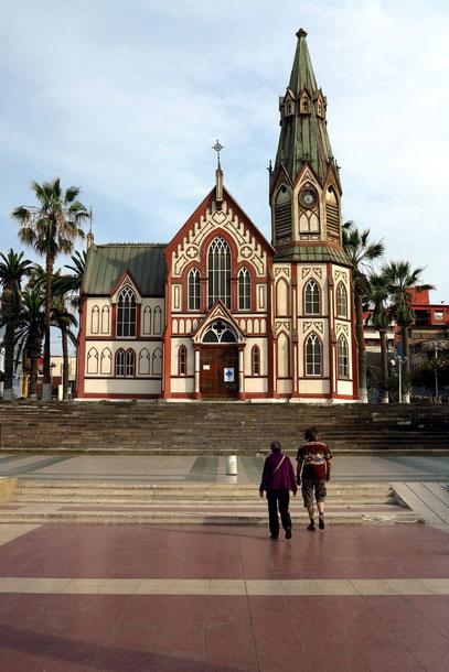 Arica, Stahlkirche San Marcos, entworfen von Gustave Eiffel, 1875